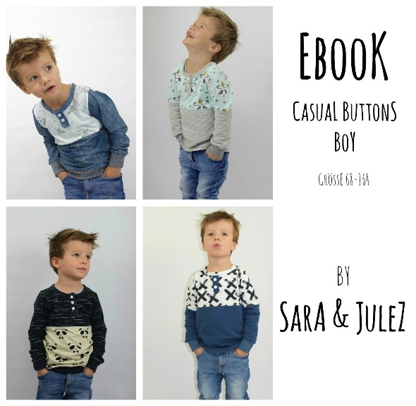 "eBook - ""Casual Buttons *Boy"" - Shirt - Sara & Julez"