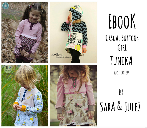 "eBook - ""Casual Buttons *Girl"" - Tunika - Sara & Julez"
