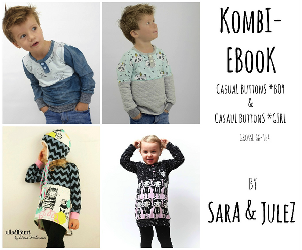 "Kombi-eBook - ""Casual Buttons *Boy & *Girl"" - Shirt - Sara & Julez - Glückpunkt"