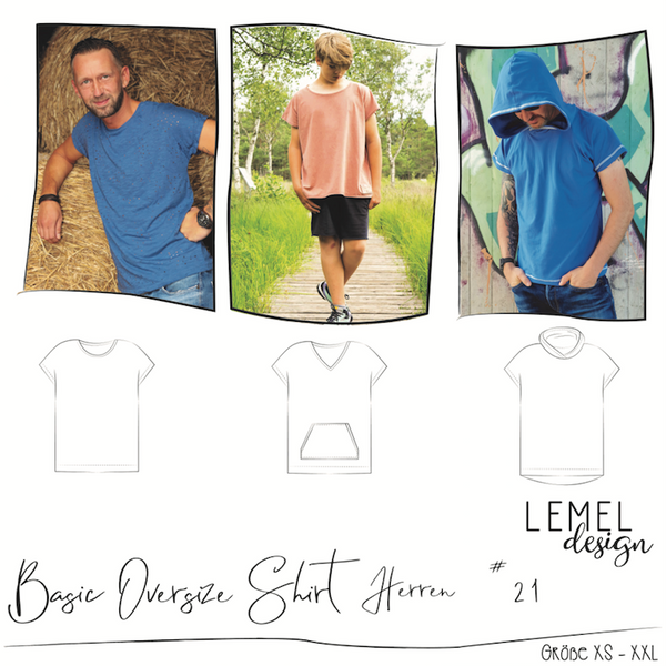 "eBook - ""Basic Oversize Shirt Herren #21"" - Shirt - Lemel Design"