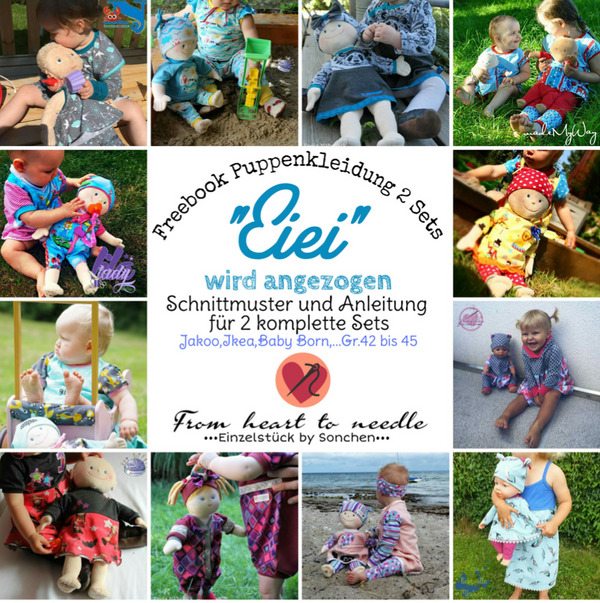 "Freebook - ""EiEi"" - Puppenkleidung -  From Heart to Needle"