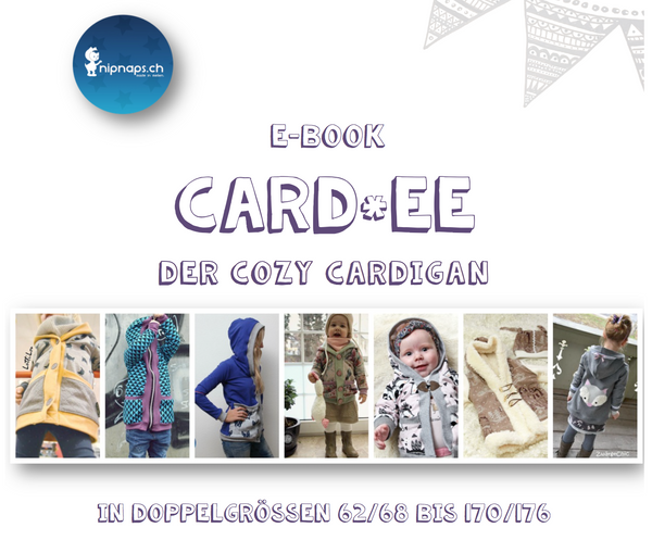 "eBook - ""Card*ee"" - Cardigan -  NipNaps - Glückpunkt."