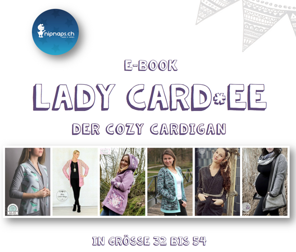 "eBook - ""Lady Card*ee"" - Cardigan -  NipNaps - Glückpunkt."