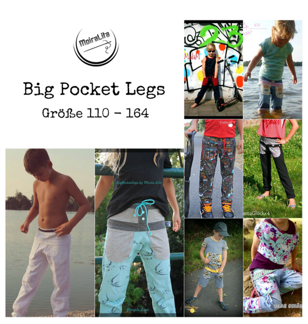 "eBook - ""Big Pocket Legs"" - Hose -  MoiraLita - Glückpunkt."