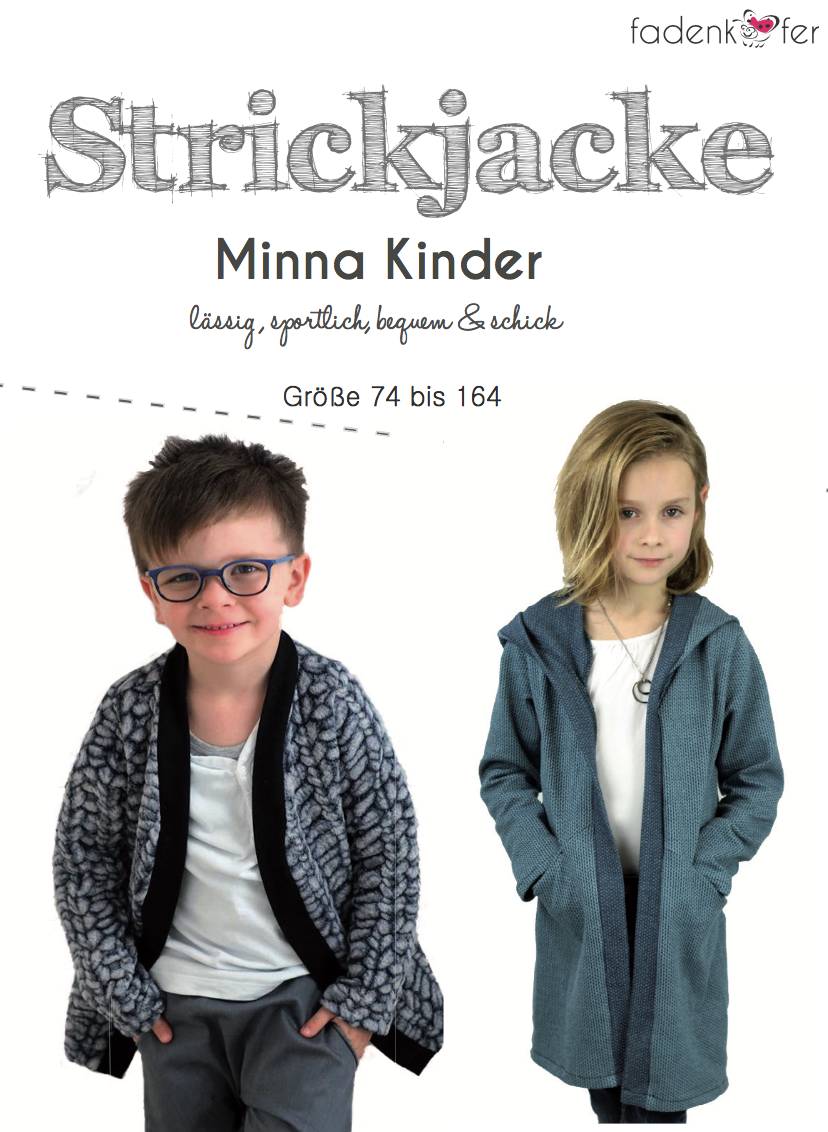 Ebook Strickjacke Minna Kinder Fadenkafer Gluckpunkt