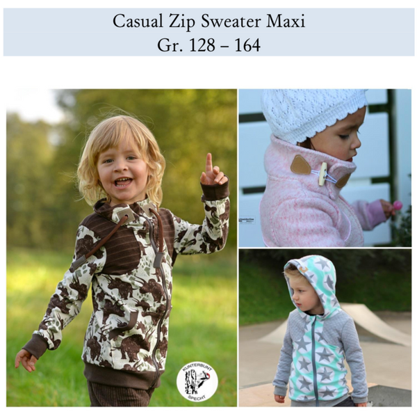 "eBook - ""Casual Zipp Sweater Maxi"" - Sweatjacke -  Schneiderline - Glückpunkt"