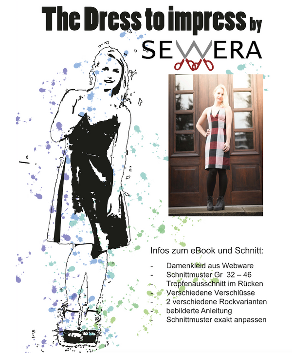"eBook - ""Dress to Impress"" - Kleid - Sewera - Glückpunkt."