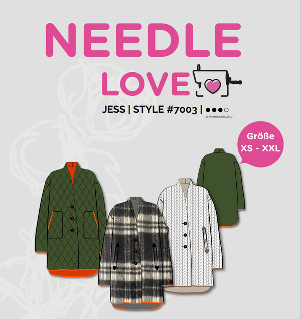 "eBook - ""JESS"" - Oversized-Mantel - Needle Love"