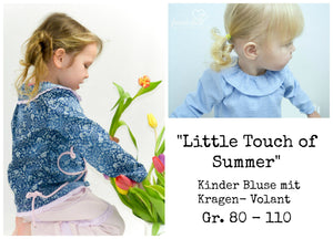 "eBook - ""Little Touch of Summer"" - Bluse - Schneiderline - Glückpunkt"