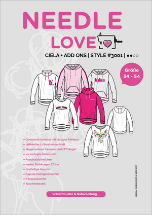 "eBook - ""Ciela inkl. Ad-On"" - Pullover - Needle Love - Glückpunkt."