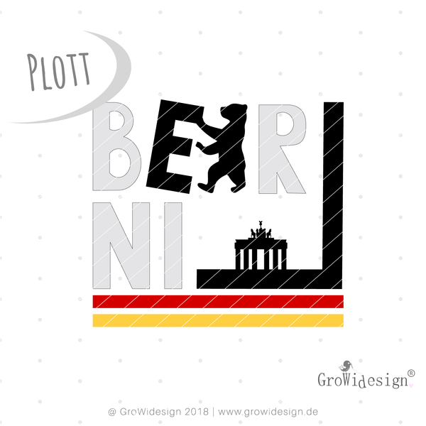 "Plotterdatei - ""City Style Berlin"" - GroWidesign - Glückpunkt."