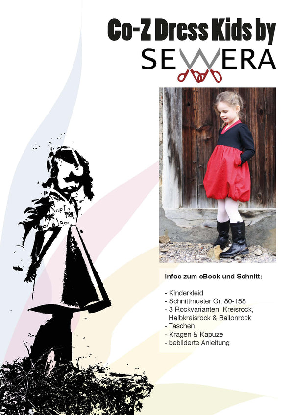 "eBook - ""Co-Z Dress Kids"" - Kleid - Sewera - Glückpunkt."