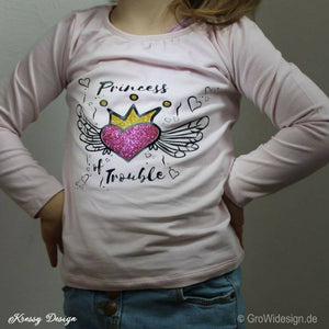 "Plotterdatei - ""Princess of Trouble"" - GroWidesign - Glückpunkt."