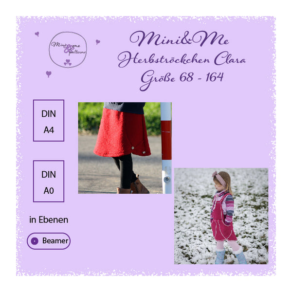 "eBook - "" Herbströckchen Clara mit Beamerdatei"" - Mini & Me Patterns"