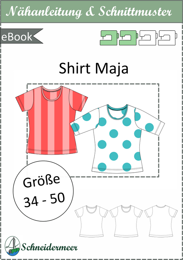 "eBook - ""Maja"" - Shirt - Schneidermeer"