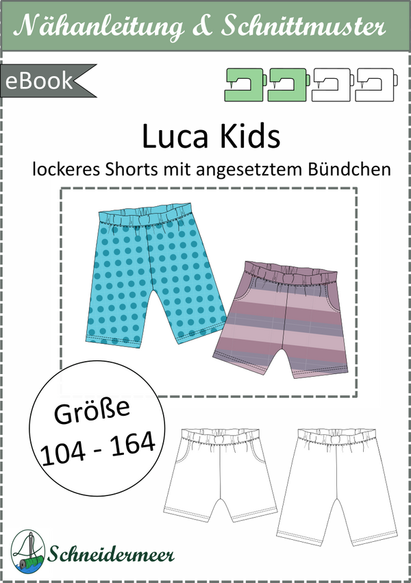 "eBook - ""Luca Kids"" - lockere Shorts - Schneidermeer"
