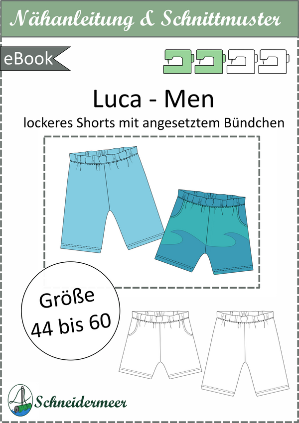 "eBook - ""Luca Men"" - lockere Shorts - Schneidermeer"
