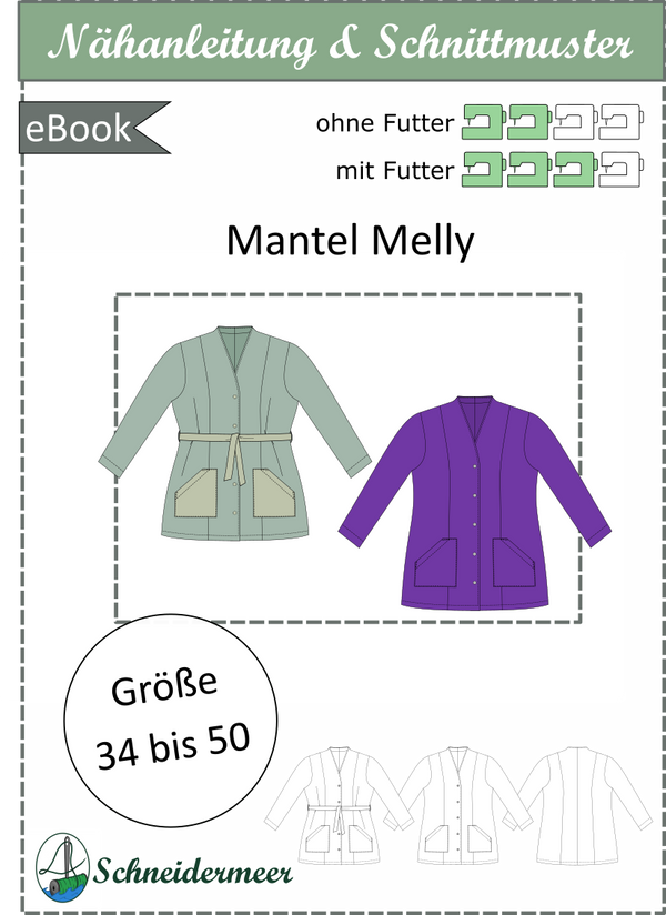 "eBook - ""Melly"" - lockerer Mantel - Schneidermeer"