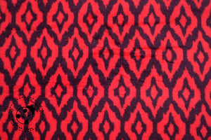 "Doubleface-Wellness-Fleece - ""Ikat Points"" - Ethno/Punkte"