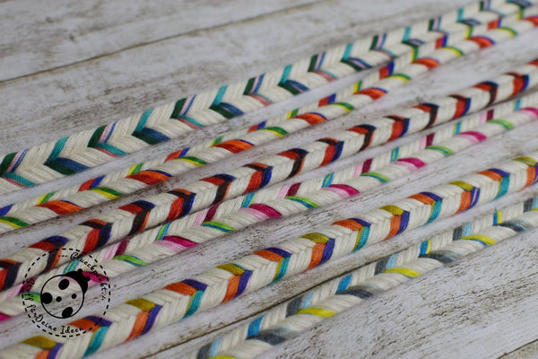 "flache Kordel/Hoodieband - ""Colorful Rope"" - 11mm"