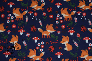 "Softshell - ""Little Fox"" - Fuchs/Blumen"