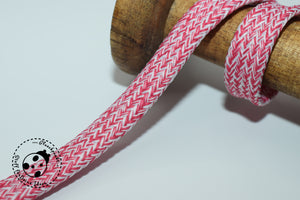 "flache Kordel/Hoodieband - ""Color Stripes"" - 12mm"