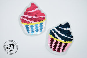 "Wendepailetten-Applikation - ""Little Cupcake"""