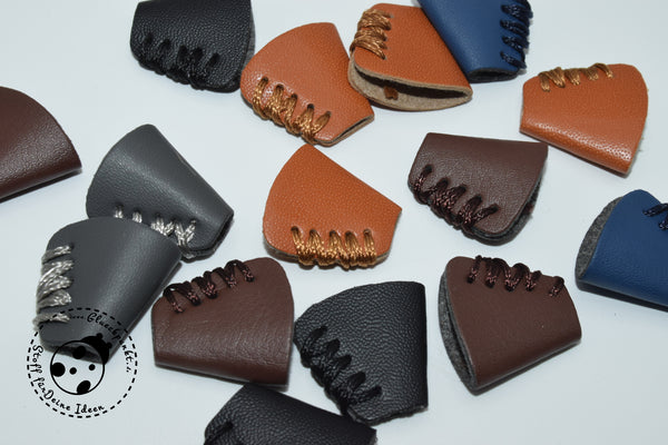 "Kordel-Stopper - ""Leather Stitches"" (2er Set)"