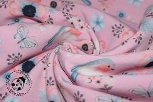 "Softshell - ""Birds in Paradise"" - Blumen/Vögel"