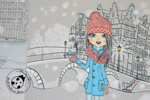 "French Terry/Sweat -  ""Winter Girls"" - Panel"