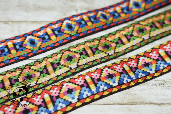 "Jacquard-Gurtband - ""Ikat Love"" - 25 mm"