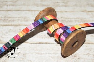 "Kunstleder-Gurtband - ""Color Stripes"" - 9 mm"