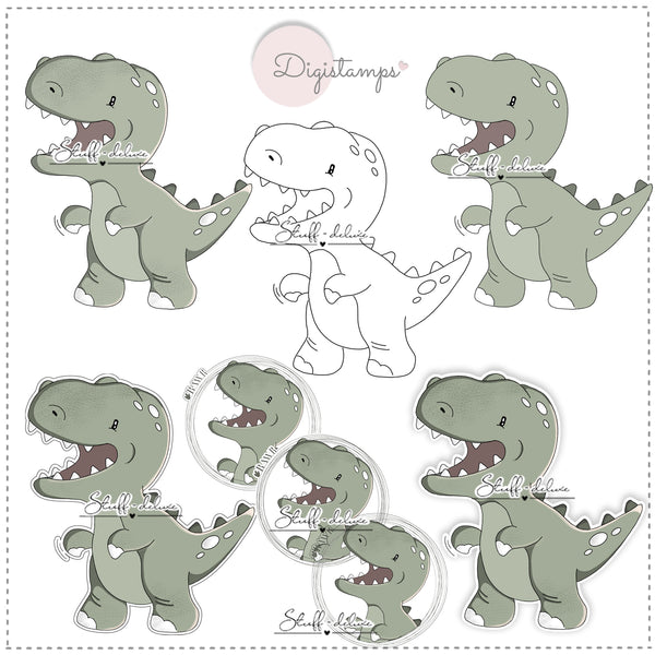 "DigiStamp - ""Dino Rexi"" - Stuff-Deluxe"