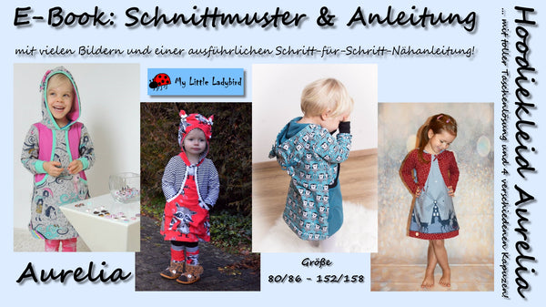 "eBook - ""Aurelia"" - Hoodiekleid - My little Ladybird - Glückpunkt"