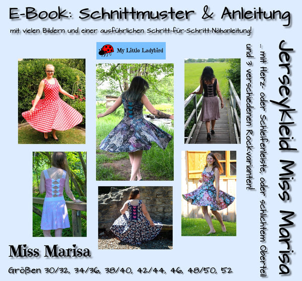 "eBook - ""Miss Marisa"" - Jerseykleid - My little Ladybird - Glückpunkt"