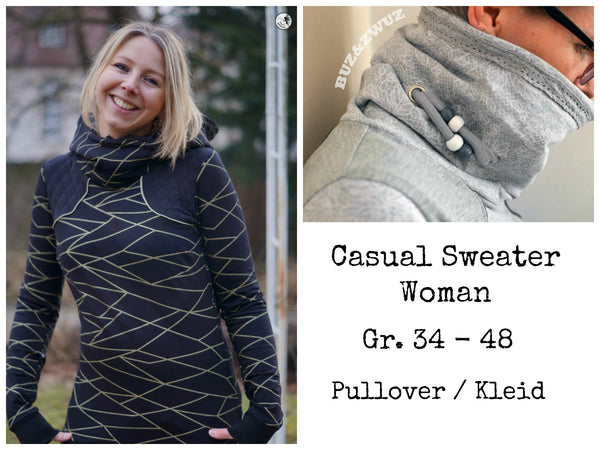 "eBook - ""Casual Sweater Woman"" - Pullover -  Schneiderline - Glückpunkt"