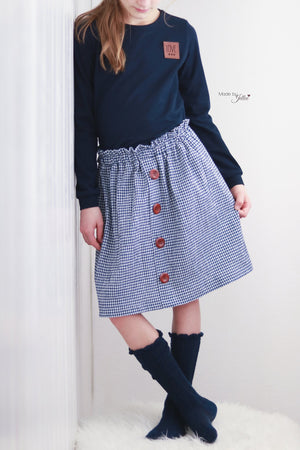 "Kombi-eBook - ""Back to School - Button Shirt & Skirt"" - Schneiderline"