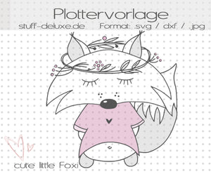 "Plotterdatei - ""cute little Foxi Fuchs"" - Stuff-Deluxe - Glückpunkt."