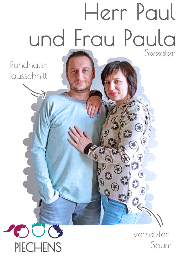 "Kombi-eBook - ""Frau Paula & Herr Paul"" - Sweater - Piechens"