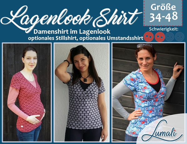 Stillshirt Umstandsshirt wickeloptik damenshirt t-shirtlumali jersey Mutti Shirt Partnerlook damen bolero  for mami&me