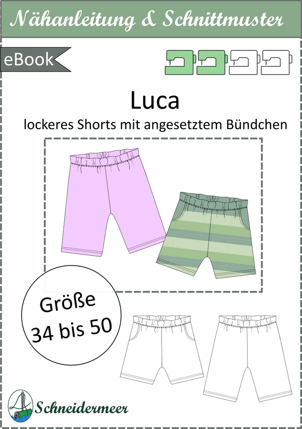 "eBook - ""Luca"" - lockere Shorts - Schneidermeer"