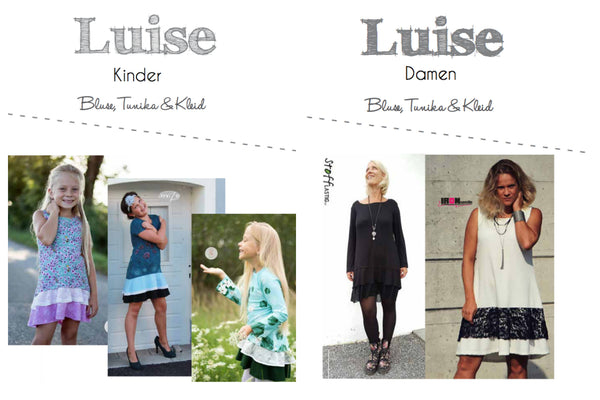 "Kombi-eBook - ""Luise Kinder & Damen"" - Kleid/Tunika/Shirt - Fadenkäfer"