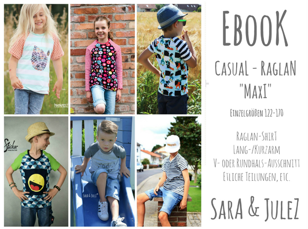 "eBook - ""Casual Raglan Maxi"" - Shirt - Sara & Julez"