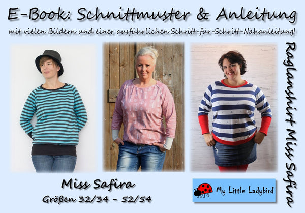 "eBook - ""Miss Safira"" - Raglanshirt - My little Ladybird - Glückpunkt"