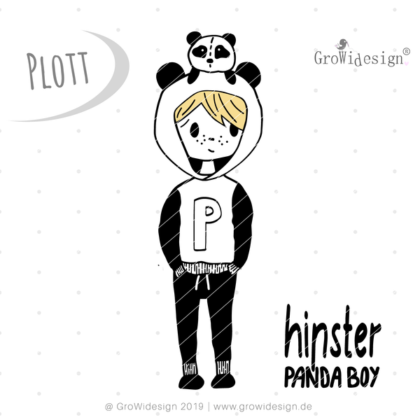 "Plotterdatei - ""PANDAboy"" - GroWidesign - Glückpunkt."