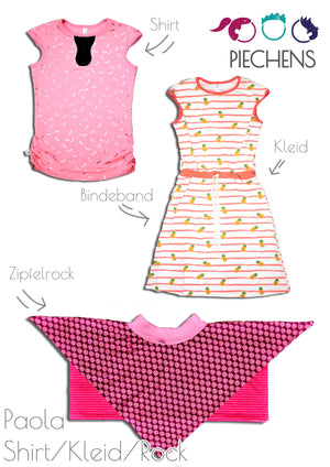 "eBook - ""Paola"" - Shirt/Kleid/Rock - Piechens"