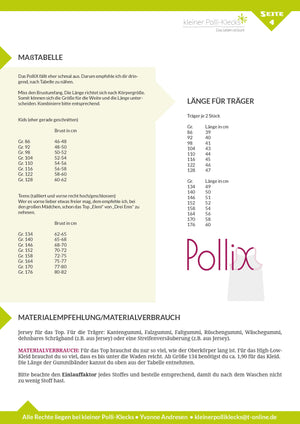 "eBook - ""PolliX"" - Top/Kleid -  Kleiner Polli-Klecks"