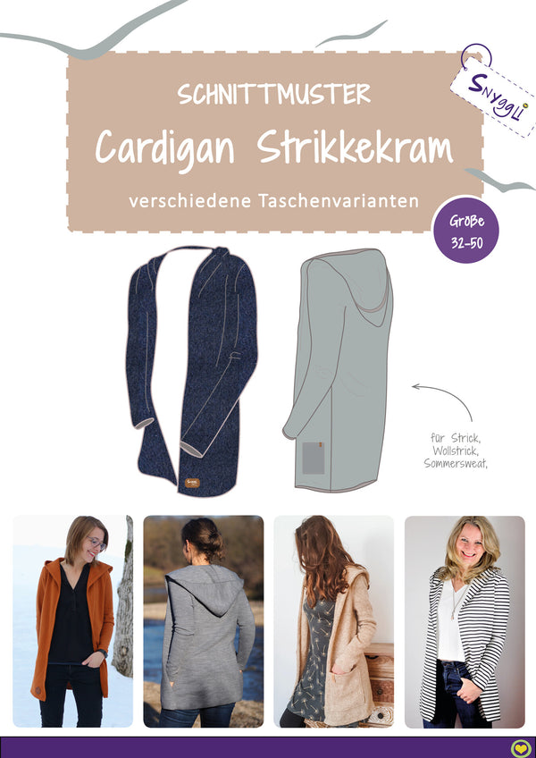 "eBook - ""Strikkekram"" - Cardigan - Snyggli"