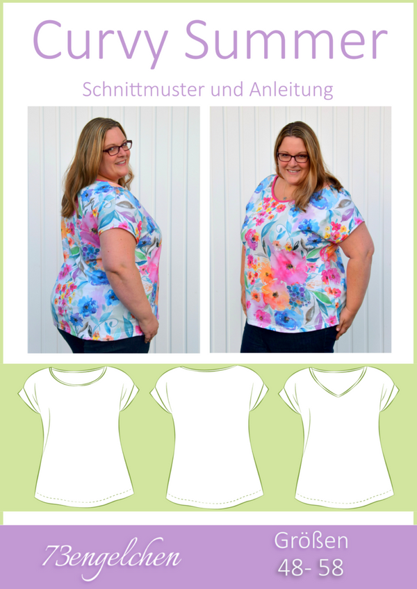 "eBook - ""Curvy Lady Summer"" - Shirt - 73engelchen"