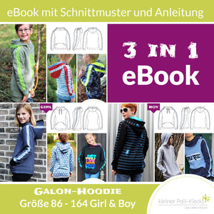 "Kombi-eBook - ""Galon Kids & Teens"" - Hoodie -  Kleiner Polli-Klecks"